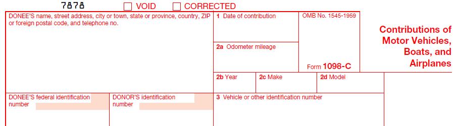 IRS Form 1098-C