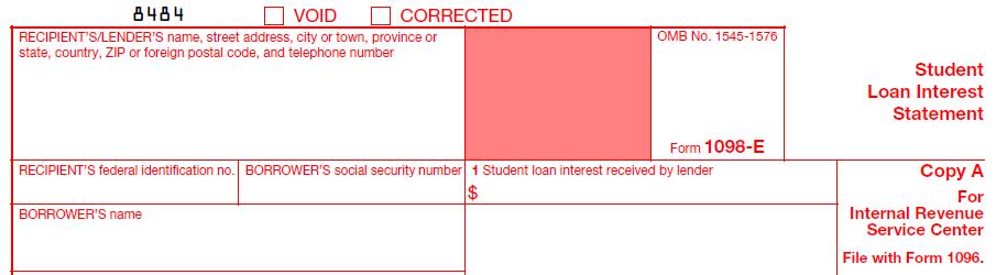 IRS Form 1098-E