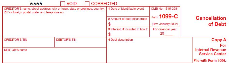 IRS Form 1099-C