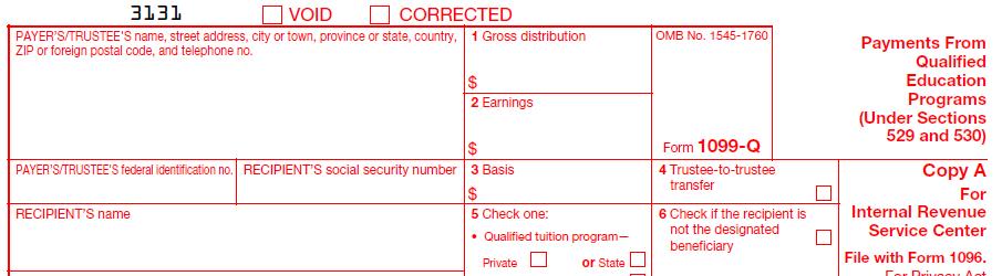 IRS Form 1099-Q