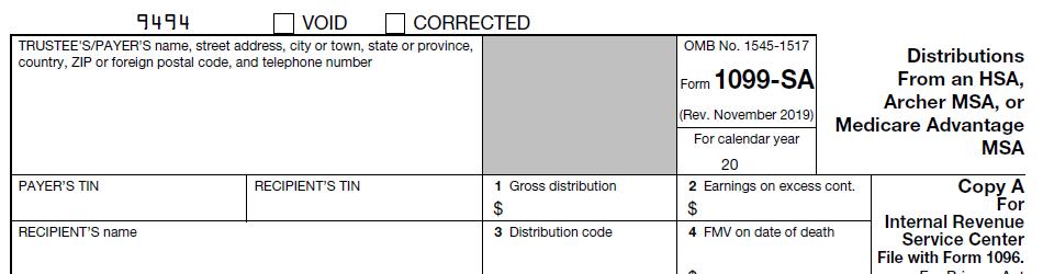 IRS Form 1099-SA