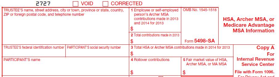 IRS Form 5498-SA