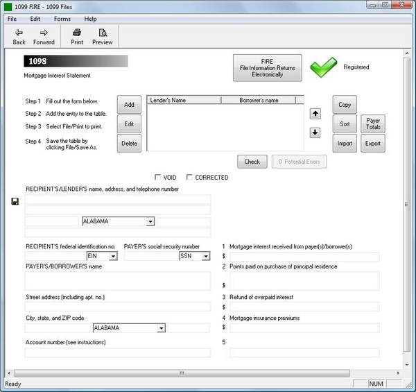 1099 Electronic Filing Software 289 To Efile