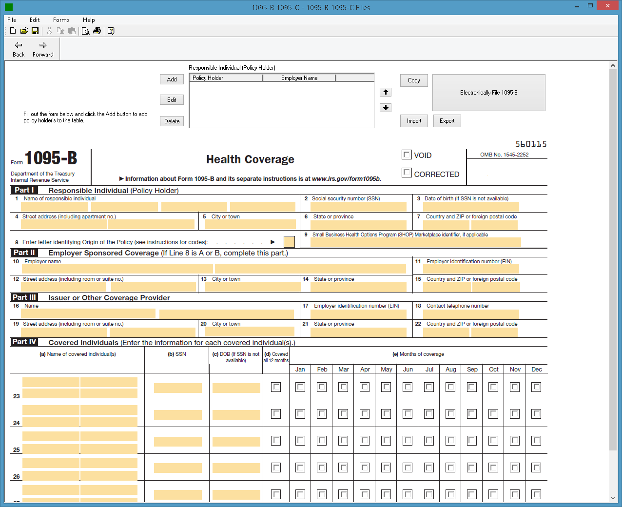 1094 b 1095 b software 599 1095 b software irs form 1095 b screenshot falaconquin