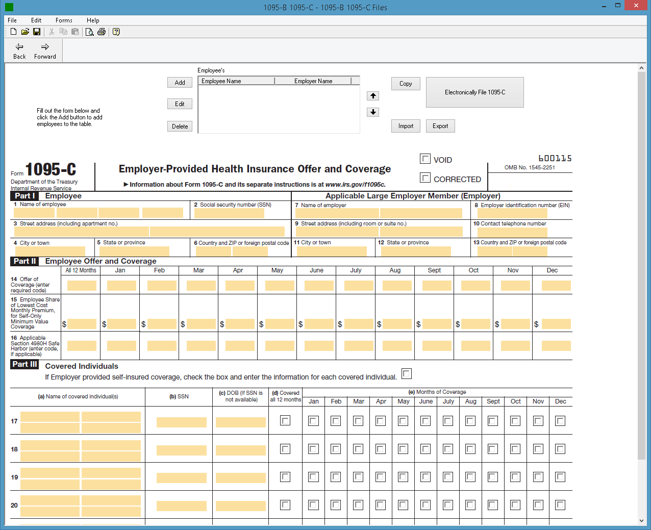 1094 b 1095 b software 599 1095 b software irs form 1095 c screenshot falaconquin