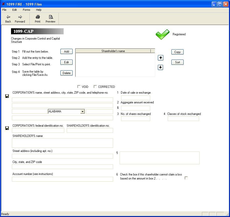 Form 1099 cap software 79 print 289 efile 1099 cap software