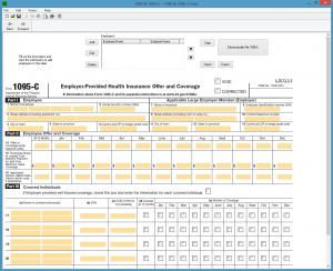 IRS Form 1095-C Screenshot