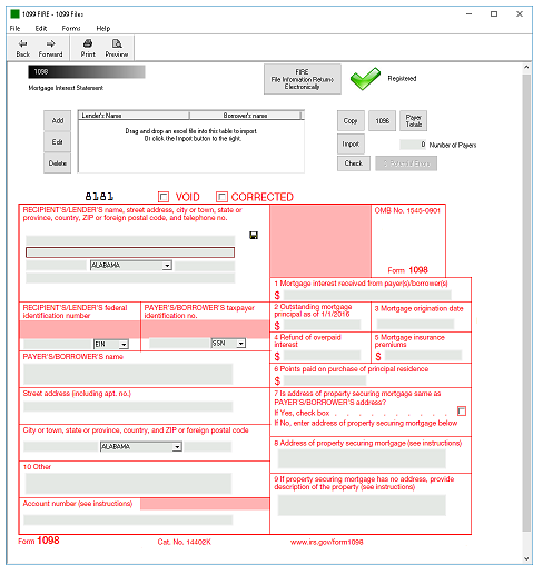 IRS Form 1098 Software - $79 Print, EFile For $289