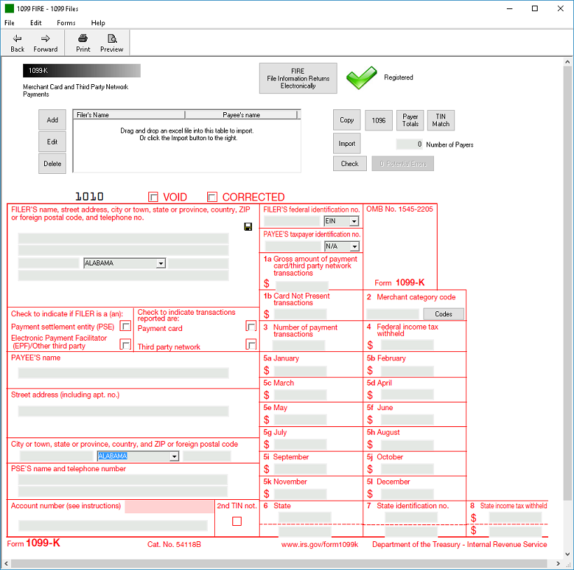 IRS Form 1099-K Software - $79 Print, $289 EFile