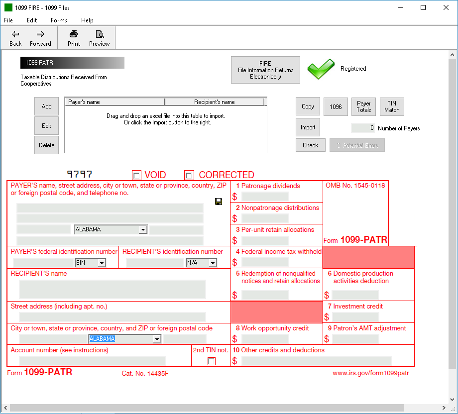 Form 1099 Patr Software 79 Print 289 Efile 1099 Patr Software
