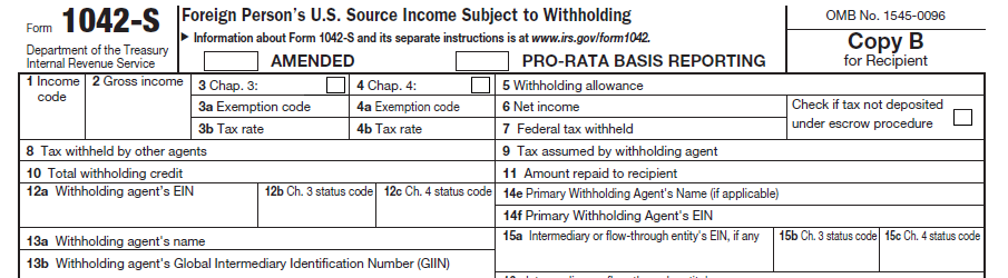 Irs Form 1042 S Software Efile For 499 Outsource 799