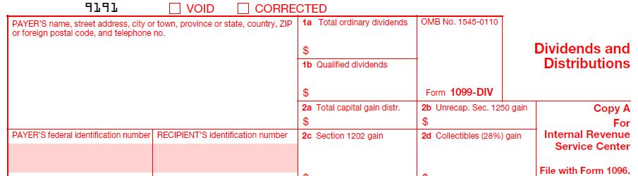 IRS Form 1099-DIV