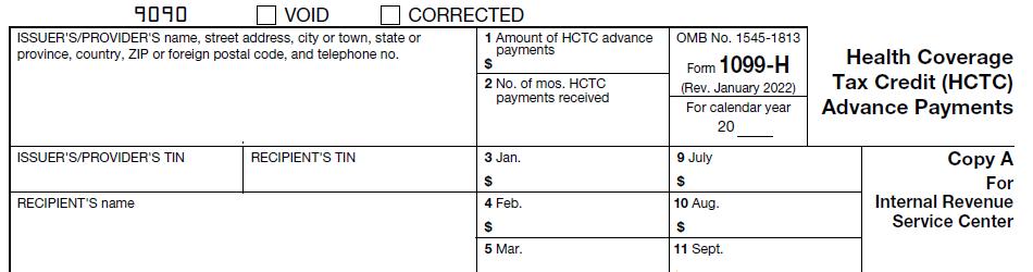 IRS Form 1099-H